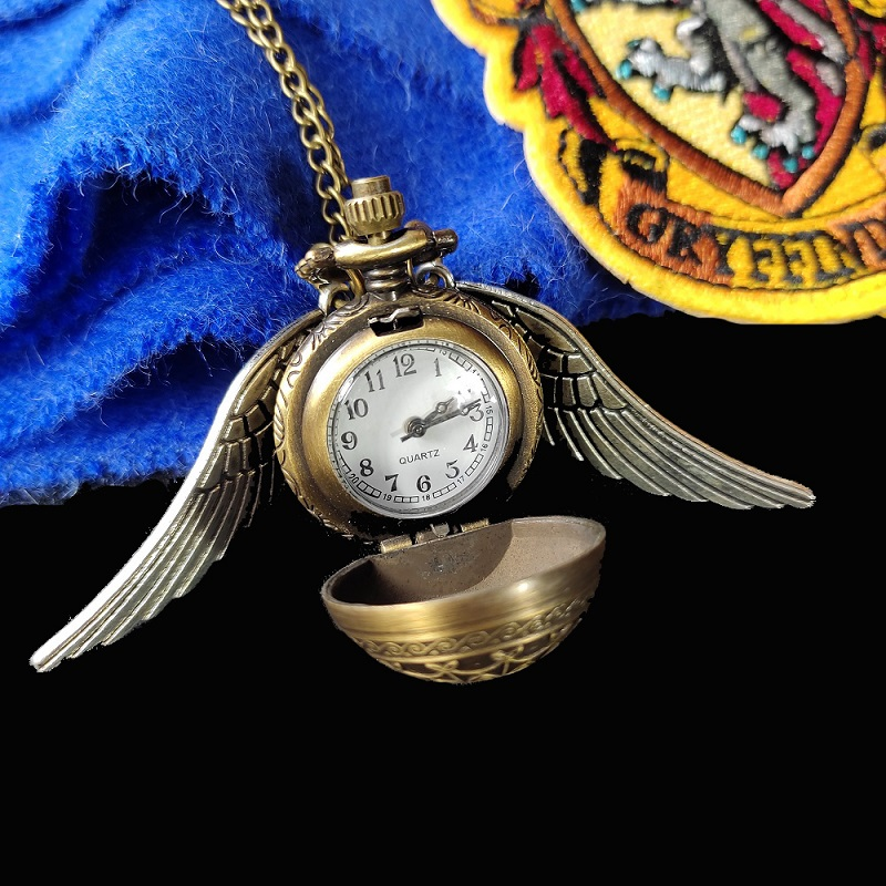reloj snitch, reloj, reloj colgante, reloj vintage, reloj bronce, harry potter, potterhead, collar harry potter, collar snitch